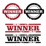 Winner stamps Royalty Free Stock Image