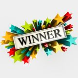 Winner star Royalty Free Stock Photography