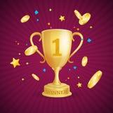 Winner Success Achievement Concept. Vector Stock Image