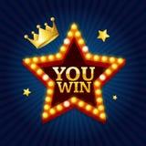 Winner Success Achievement Concept. Vector Stock Photography