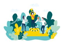 Winner and success concept. stock illustration