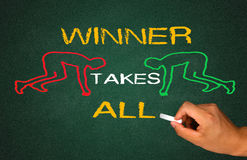 Winner takes all. Concept on chalkboard Stock Photography