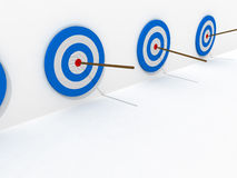 Winner target in series Royalty Free Stock Photo