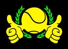 Winner tennis symbol Royalty Free Stock Photo