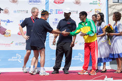 He winner of the 13th Edition Great Ethiopian Run Stock Photography