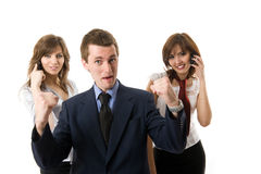 The winner. Three business people. Royalty Free Stock Images