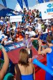 Winner Triathlon, South Africa royalty free stock image