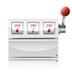 Winner triple sevens at slot machine. Stock Image
