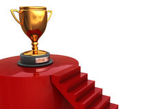 Winner trophy. Abstract 3d illustration of stairway to winner trophy Royalty Free Stock Photos