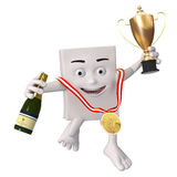 Winner with trophy Royalty Free Stock Images