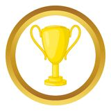 Winner trophy cup vector icon Stock Photography