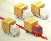 The winner truck Stock Image