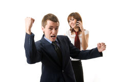 The winner. Two business people. Royalty Free Stock Photos