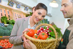 Winner vegetable raffle Stock Photography
