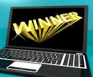 Winner Word On Computer Stock Image