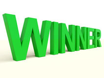 Winner Word On Table Stock Photography