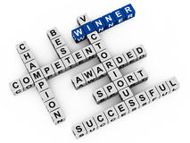 Winner words Royalty Free Stock Images