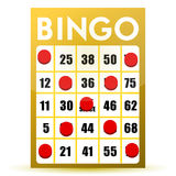 Winner yellow bingo card. Illustration isolated over a white background Royalty Free Stock Image