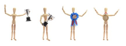 Mannequin. I am a winner in life royalty free stock photography
