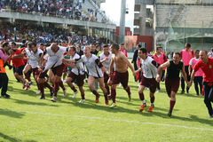 Winners. The salernitana football team players are celebrating the promotion in professional league after the match salernitana-monterotondo.may 2012 Royalty Free Stock Image