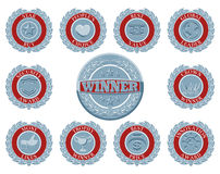 Winners award badges Royalty Free Stock Image