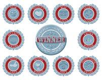 Winners award badges Royalty Free Stock Image