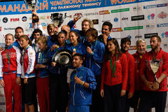 Winners of Beach Tennis World Team Championship 2015 Stock Images