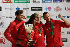 Winners of Beach Tennis World Team Championship 2015 Royalty Free Stock Images