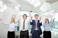 Winners in business Stock Image