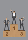 Winners of Business Competition Conceptual Vector Illustration Stock Image