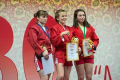 Winners category of women 48 kg Royalty Free Stock Image