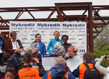 Winners - copenhagen marathon female Royalty Free Stock Images