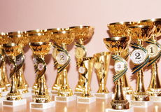 Winners cups Royalty Free Stock Image