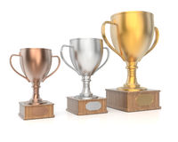 Winners cups Royalty Free Stock Images
