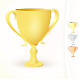 Winners cups on white background Royalty Free Stock Images