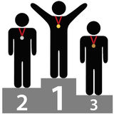 Winners first second third place awards podium Royalty Free Stock Photography