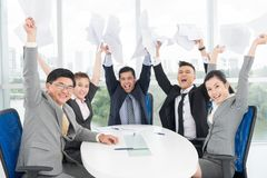 We are winners! Royalty Free Stock Photo