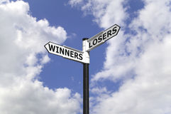 Winners and Losers Stock Photo