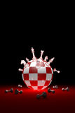 Winners and losers (chess metaphor). Vertical image. 3D render i royalty free stock image