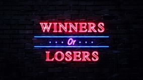 Winners Or Losers Neon Sign