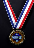 Winners Medal. Photo of a Medal Stock Photo