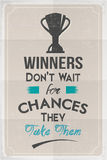 Winners Motivation Poster Stock Photography