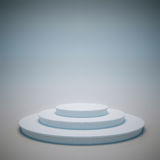 Winners podium. 3D render of a white round podium Stock Photo