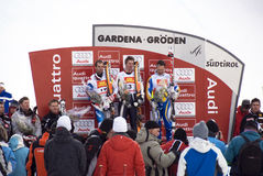 Winners Podium - Fis World Cup Stock Image