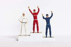 Winners podium. Gold silver and bronze on the winners podium Royalty Free Stock Photography