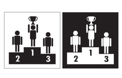 The winners podium  Royalty Free Stock Images