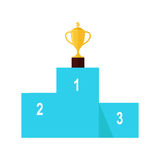 Winners Podium Isolated. Professional Growth. Royalty Free Stock Images