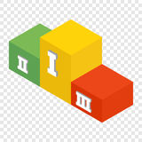 Winners podium isometric 3d icon. On transparent background Stock Photo