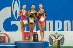 Winners on the podium Royalty Free Stock Photography