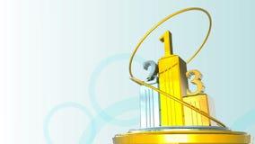 Winners Podium Static Loop stock footage